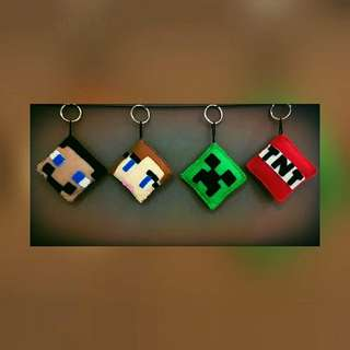 Minecraft Inspired Keychain/Bag Accessory