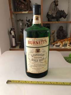 Burnetts dry gin bottle (unopened)
