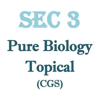 2016 CGS Secondary 3 Biology Topical / Sec 3 / Pure Biology / Biology / Bio / Topical Revision / CGS / Crescent Girl Secondary School / FREE Sec 3 past papers / Exam papers / top school papers