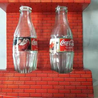Coke Glass Bottles Christmad Season 1997
