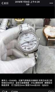 香奈兒-CHANEL優雅氣質陶瓷女裝腕錶採用日本進口西鐵城82535機芯藍寶石玻璃鏡面316L精鋼錶殼精鋼結合陶瓷錶帶尺寸直徑35mm厚度11mm批980 鑽加20