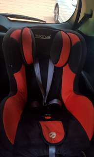 Sparco baby carseat- preloved