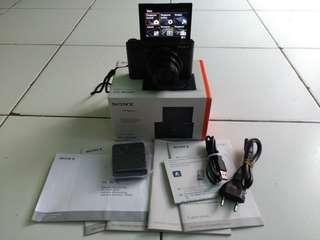 Kamera Mirorles Sony DSC-WX500 Fullset Baru pakai 3 bulan