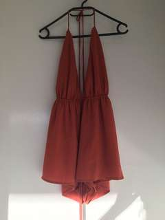 Rust coloured playsuit size 6-8