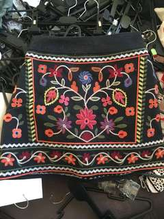 Embroidered skirt size 8