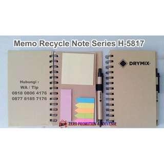 Souvenir Memo Recycle Note Series H-5817