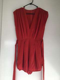 Rust coloured playsuit size S