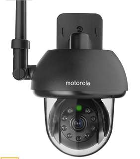 (88)Motorola FOCUS73-B Wi-Fi HD Outdoor Home Monitoring Camera with Remote Pan, Tilt & Zoom (Black)