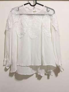正韓 蕾絲造型罩衫