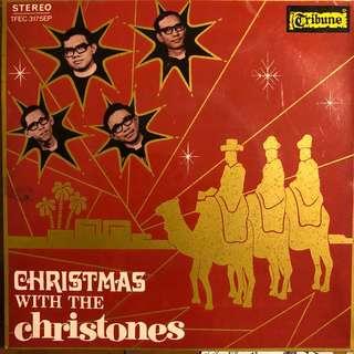 "Christones -Christmas EP 60's Singapore Local Band 7"" Record Vinyl"