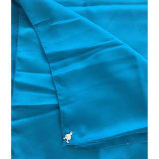 DUCK INSPIRED PEACOCK BLUE SATIN SHAWL (RM20 FREE POSTAGE)