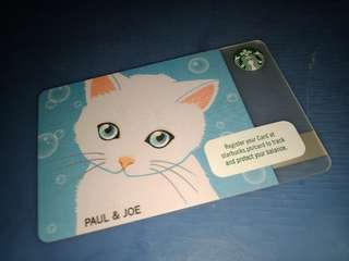 Starbucks card paul and joe