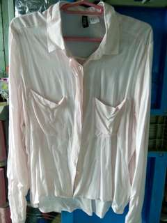 Baby Pink Long Sleeve Blouse