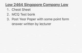 Law 2464 Singapore Company Law