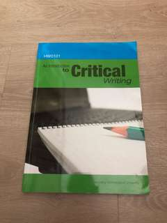 HW0101 Intro to Critical Writing