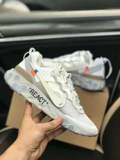 Nike epic react element 87 undercover 高橋盾機能運動鞋老爹鞋