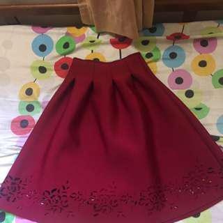 Premium quality Maroon skirt