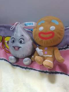 Ginger bread man and kisses soft toy