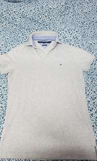 Tommy Hilfiger Slim polo Grey