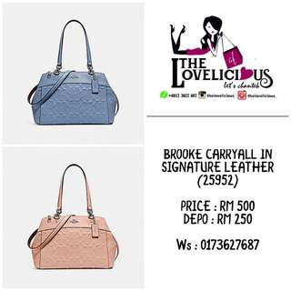 BROOKE CARRYALL IN SIGNATURE LEATHER COACH F25952