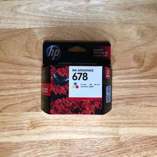 HP ink advantage 678 tri-color