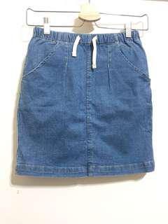 Lativ 棉質牛仔短裙