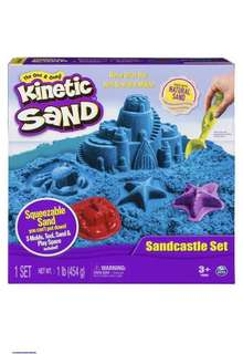 Brand New Kinetic Sand - Sandcastle set