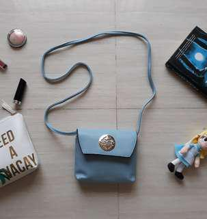 Soft Blue Pastel Sling Bag