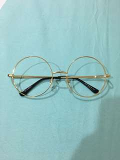 Korean Round Glasses (Gold)