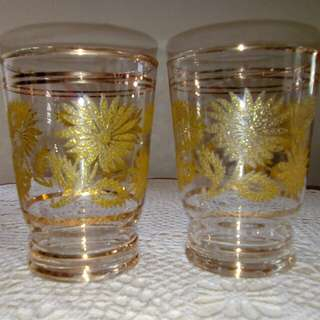 """Vintage glass ,h: 3.5"""""""