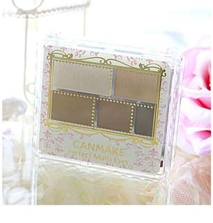 "CANMAKE ""Perfect Multi Eyes"" Eyeshadow Palette (3.3g) Rose Chocolat Color"