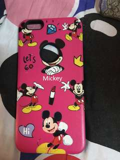 Pink mickey mouse iphone 6s/6s plus case