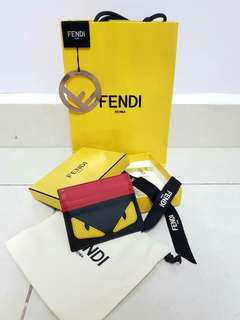 FENDI namecard holder (Authentic calfskin,made in Italy)
