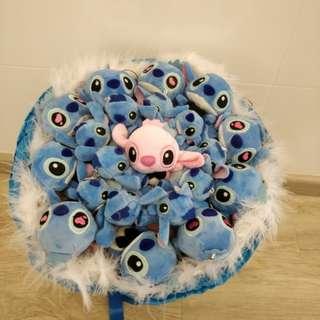 Blue stitch Bouquet