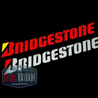 Bridgestone Reflective decal