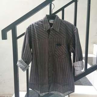 #maudecay stripes grey blouse kemeja kerja