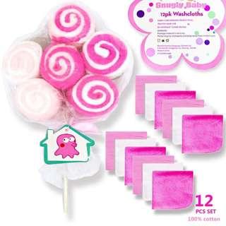 12in1 Washcloth Lollipop Gift Set