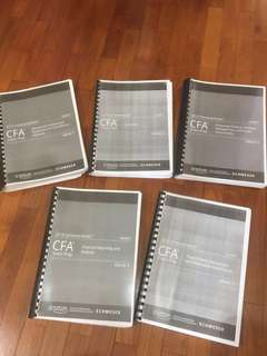 Hard copy CFA Level 1 2018 Schweser Books 1-5 + soft copy package