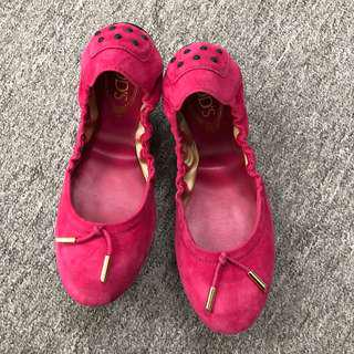 Tod's Ballerina Dee laccetto Suede 魷魚鞋