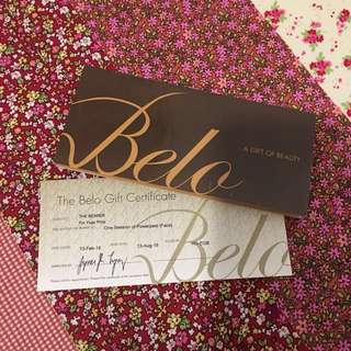 BELO CLINIC GIFT CERTIFICATE (POWER PEEL)