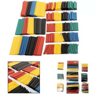 🚚 [💥Flash sale!💥] 328pcs 2 : 1 Polyolefin Halogen-Free Heat Shrink Tube Sleeving 5 Color 8 Size [U.P $12]