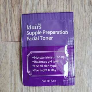 Klairs Supple preparation toner sampler