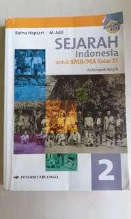 Buku Sejarah Indonesia untuk SMA/MA Kelas XI Kurikulum 2013 oleh Ratna Hapsari dan M. Adil
