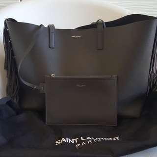 Saint laurent (ysl) leather fringe tote bag (reprice)!