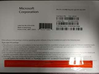 全新未拆Windows Pro 10 專業版 64 bit 原裝正版軟件OEM 英文版Full Version Win10 正版