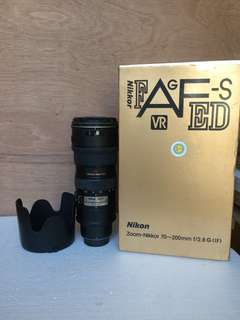 For Sale Lensa Nikon AF-S 70-200 VR I