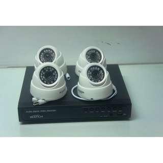 4Camera CCTV Package 720P HD Indoor TYpe
