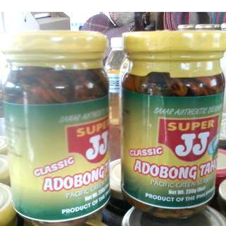 ADOBONG TAHONG IN GLASS BOTTLE SAMAR PRODUCT MINIMUM OF 2 BOTLLE PER ORDER. TRY IT AND TASTE IT DELICIOUSLY!!!