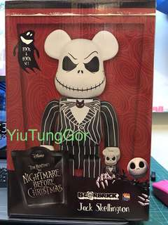 Bearbrick jack skellington 400% + 100% #medi com toy