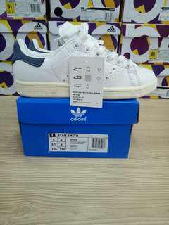ADIDAS STAN SMITH LEATHER PASTEL WHITE DARK BLUE ORGINAL QUALITY MADE IN INDIA